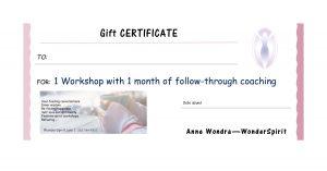 1-month program gift certificate, wonderspirit.com